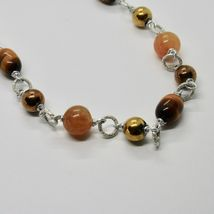 Necklace the Aluminium Long 48 Inch with Tiger's Eye Jade and Hematite image 10