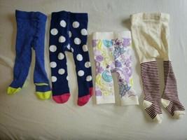 Baby tights Set Lot Infant 0-3-6 Mos Bright Colors Prints Polka Dots NEW/EUC - $19.79