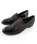 Stuart Weitzman Brown Patent Leather Loafers Flats Slip On Shoes Womens 8 M - $29.62