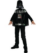 Kids' Star Wars Darth Vader Shirt, Cape & Mask Halloween Costume L 12-14 Rubie's - $16.82