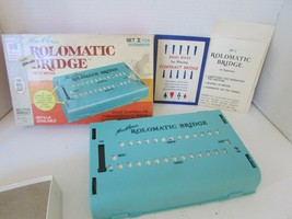 Vtg 1969 Milton Bradley Rolomatic Bridge Machine Set 1 For Beginners Complete - $14.69