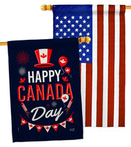 Canada Day - Impressions Decorative USA Applique House Flags Pack HP1372... - $59.97