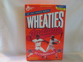 Cleveland Indians 1995 AL Champions Unopened Wheaties Box  - £7.15 GBP