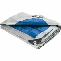 Blue Silver All Purpose Water Resistant Tarp Tarps Heavy Duty Reinforced... - $22.87+