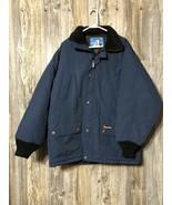 RefrigiWear Men's Lined Insulated Hooded Navy Blue Parka Large Coat Jacket - $79.19