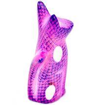 SMOLArt Hand Carved Soapstone Pink Purple Sitting Kitten Cat Figurine Made Kenya image 4