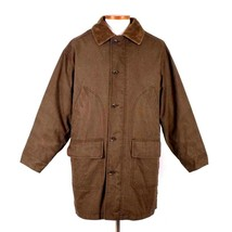 Eddie Bauer Legends Olive Field Coat Trench Jacket Mens M Removable Wool... - $54.44
