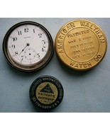 Waltham Pocket Watch Movement and Parts Tin together with C & E. Marshal... - $23.70