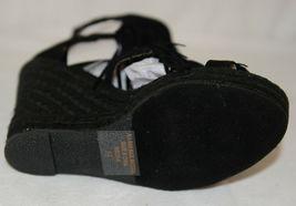 BF Betani Shiloh 8 Black Fringe Wedge Heel Sandals Size 5 And Half image 7