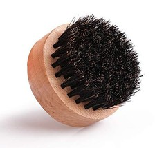 ECHOLLY Wood Beard Brush for Men - Boar Bristles Small and Round- Beard Balm and image 1
