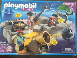 Playmobil 3127 PIRATE SUPER STARTER SET British Prisoner Cannon Rock Isl... - $17.95
