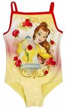 Girls Beauty & The Beast Yellow Swimsuit - $12.66