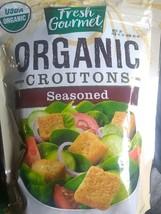 Case lot of 9 Fresh Gourmet Organic Seasoned Croutons Salad Toppings - $7.91