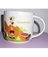 Starbucks Tennessee You Are Here Coffee Cup Mug Green White Brown YAH - $22.75