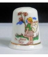 Nursery Rhymes THE DAISY FAIRY Thimble Fenton English Bone China - $5.00