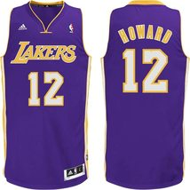 New Adidas Dwight Howard Purple Swingman # 12 Los Angeles Lakers Jersey ... - $50.00
