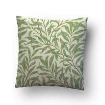 Vintage Floral Willow Bough Green Throw Pillow Case Decorative Cushion C... - $17.29