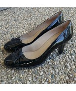 Talbots Black Patent Dress Heels with Bow Size 9.5 - $19.99