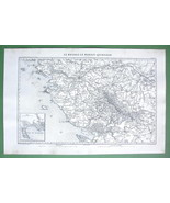 "1846 ANTIQUE ORIGINAL MAP - FRANCE Nantes & Environs 10 x 15"" (25 x 38 cm) - $18.90"