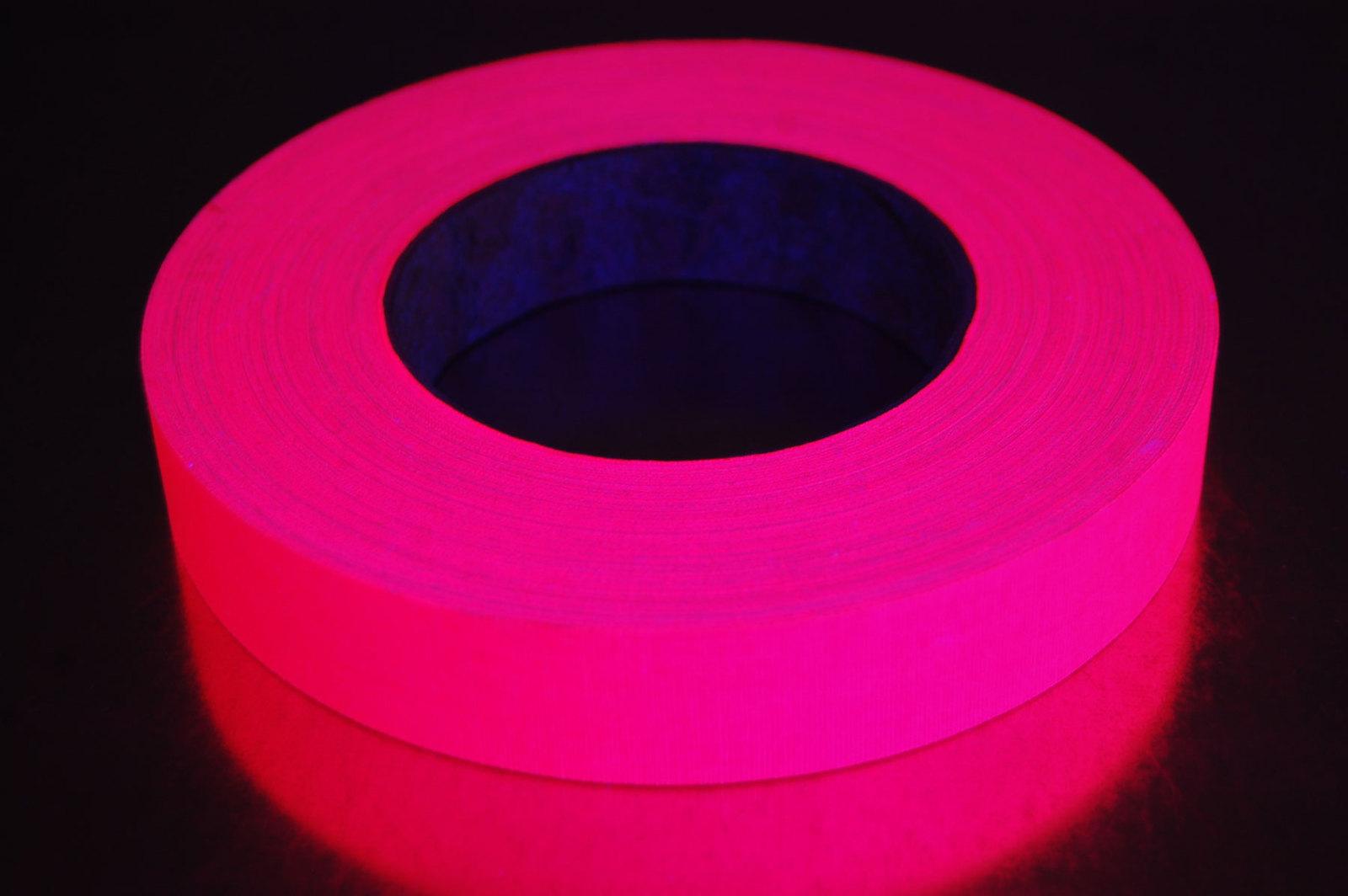 1 inch 50 yard uv pink blacklight gaffer tape1
