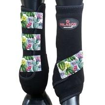 M - Hilason Horse Medicine Sports Boots Rear Hind Leg Black U-US-M - $65.33
