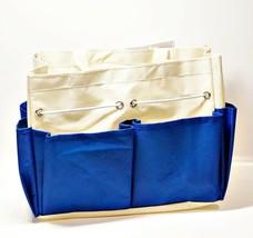 "Allary #1610 Canvas Craft Caddy Organizer Project Tote 9.5""x5""x8.5"", Blue - $8.31"