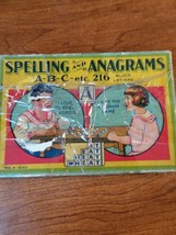 Spelling And Anagrams Game antique 1930 - $28.05