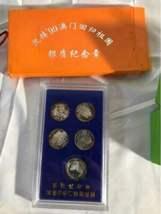 Lot China Chinese Collectibles Signed Print Old Man Macau Coin Panda Metal Ball image 11