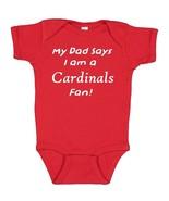 My Dad Says I am a St. Louis Cardinals Fan Cute Baby Boy Bodysuit Creeper  - $8.98