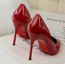 9AB018 Candy color pointy pumps,stiletto, patent leather,size 4-8.5, red - $78.80