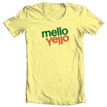 Mello Yello T-shirt soda 1980's candy retro 100% cotton graphic yellow tee image 1