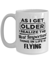 Funny Coffee Mug for Flying Fans - 15 oz Tea Cup For Friends Office Co-W... - $14.95