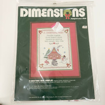 "Dimensions Christmas Wish Sampler Cross Stitch Kit #8317 11"" x 14"" Vintage 1984 - $17.95"