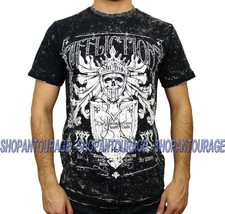 AFFLICTION Glorify A8143 Reversible Men`s New T-shirt Black - $51.95