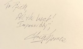Greg Morris Autographed Hand Signed 3x5 Index Card Coa Mission Impossible Vegas - $39.99
