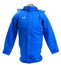 Under Armour Blue UA Infrared Elevate Long Zip Front Hooded Jacket Men's... - $149.99