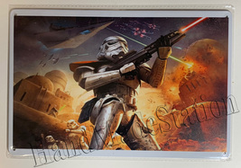 """Star Wars White soldier fight Wall Metal Sign plate Home decor 11.75"""" x 7.8"""" image 1"""