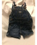 Oshkosh B'Gosh Bib Overalls Vestbak Denim Shorts Shortalls size 12-18 Mo... - $11.00