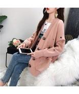 2019 Knit Women Sweater Fashion Loose Warm Animal Single breasted Cardig... - $40.80