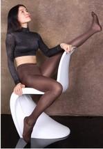 WOMEN Zipper Open Crotch Sheer Trousers Ice Silk Leggings Footed Transpa... - $11.18