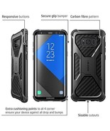 Samsung Galaxy S8 Plus Case Carbon Fiber Cover Heavy Duty Skin Dual Laye... - $26.22