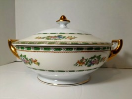 Meito China Covered Serving Bowl Made in Japan Hand Painted Grafton - $33.24
