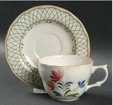 Flat Cup & Saucer Set Hampton by NIKKO Set of 2 Height 2 5/8 - $13.09