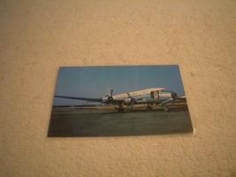 AIR VIETNAM AIRLINES HANG KHONG DOUGLAS DC-6 POSTCARD, ON TARMAC - $1.95