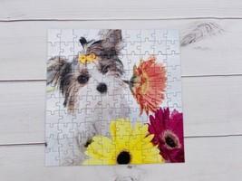 Puppy love Flowers - 100 Large Pcs - Puzzle - Complete - M - $5.83