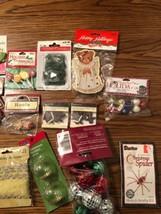 Christmas Craft Lot Santa Ornaments Decorations - $16.82