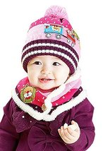 Christmas Baby Child Toddler Cotton Knitting Wool Hat/Cap&Scarf for 10-36Months