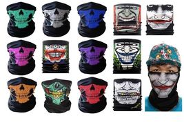 Halloween Mask Scarf Head/Face/Neck Warmer Biker skull Half Face Bandana - $0.98+