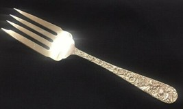 """S. Kirk & Son REPOUSSE Sterling Serving Small lCold Meat Fork 7 1/2"""" No ... - $52.20"""