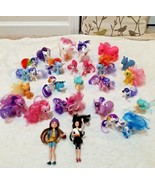 Big My little pony mixed lot ponies and figures with brushable hair big ... - $18.80